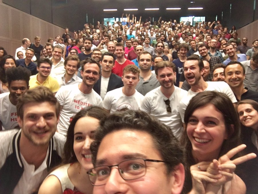 Selfie de bienvenue du Founders Program
